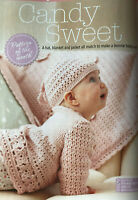 CROCHET PATTERN Baby Girls Set Lace Flower Cardigan Hat + Blanket Sublime DK