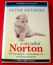 Peter Gethers A Cat Called Norton 6-Tape UNABR.Audio Bk Jeff Harding Kitten/Biog