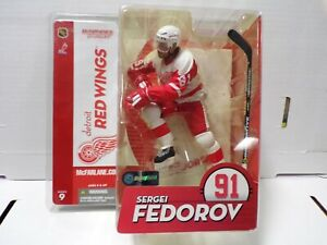 Sergei Fedorov Detroit Red Wings White Jersey McFarlane SERIES 9 112520amt3