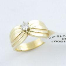 NYJEWEL Brand New 14k Yellow Gold Solitaire 0.25ct Diamond Engagement Ring