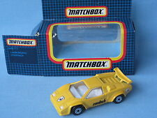 Matchbox Lamborghini Countach Yellow Body Italian Sports Toy Model Car 70mm