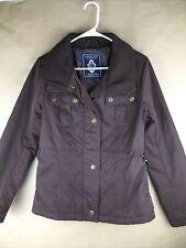 KINGSLAND EQUESTRIAN Womens Sample Brown Quilt Nylon Thermolite Coat Jacket SZ S