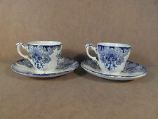 2 tasses à café + sous tasses Dordrecht  Boch Frères La Louvière