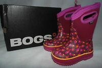 Bogs Classic Youth Girl Size 3 Sweet Pea Berry Insulated Winter Boots -30F Snow