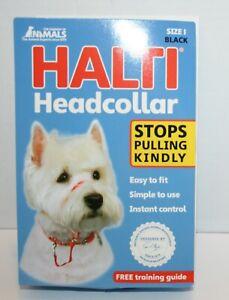 Halti Dog Headcollar Kind Control Stops Pulling  - Size 1/ Black