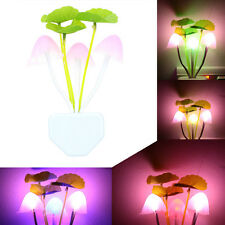 Alice in Wonderland Fantasy Dreamy Automatic Multicolor LED Mushroom Night Light