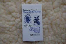 Botanical Prints Booklet Stamps Full Book Issued 3/3/97 Scott# Bk261
