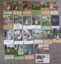 Lot of 23 assorted VINTAGE BAMFORTH SONG postcards real photo 1906 onward