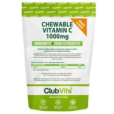 Vitamin C 1000mg 365 Chewable Orange Tablets Immune Health Support Colds ClubVit