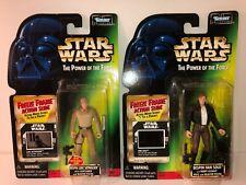 Luke Skywalker & Han Solo Star Wars Power Of The Force Green Card  Lot #267