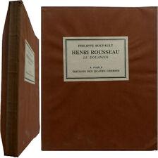 Henri Rousseau le Douanier 1927 Philippe Soupault éd. Quatre Chemins art naïf