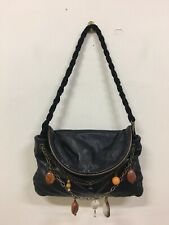 MIMCO Bag / Clutch Small Black Leather Beaded Detail Good Pre-Loved Condition
