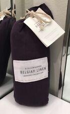 Restoration Hardware Stonewashed Belgian Linen Euro Pillow Sham Aubergine $109