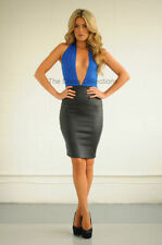 Regular Faux Leather Stretch, Bodycon Dresses for Women