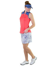 NWT Jofit Women's Zip Cutaway Mock Tomato Sleeveless Shirt New GT314 XS Small M