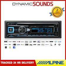 Alpine CDE-196DAB CD MP3 Bluetooth Stereo USB Aux-In DAB Digital Radio