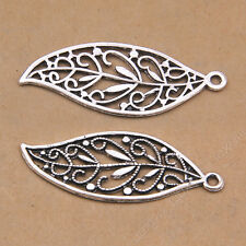 10pc Tibetan Silver Tree Leaves Pendant Necklace Charms Jewelry Accessories P356