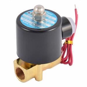 """3/8"""" a due vie 2 Posizione elettrovalvola pneumatica AC 220V 2W-040-10"""