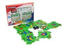 City puzzle véhicule set jigsaw kids child learning toy anniversaire cadeau de noël