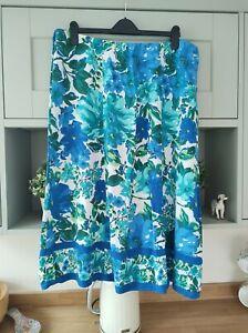 Marks And Spencer Summer Skirt Size 22 (Elasticated Waist)