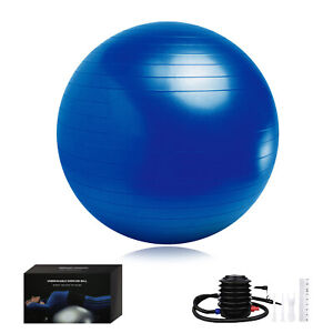 "17""-36"" Yoga Ball Exercise Anti Burst Fitness Balance Workout Stability W Pump"