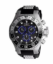 New Mens Invicta 21830 Pro Diver Black Dial Chronograph Date Watch