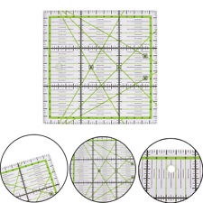 15*15cm Transparent clear quilting sewing patchwork ruler cutting tool tailor JD