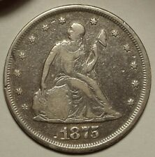 1875 Twenty Cent Piece Choice Very Good First Year Issued 20c Coin