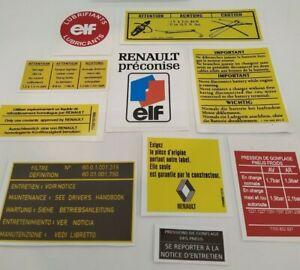 ⭐🇫🇷 NEUF KIT 10 STICKERS MOTEUR RENAULT R5 ALPINE TURBO AUTOCOLLANT ENGINE BAY