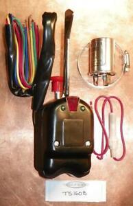 New! Black Turn Signal Switch w/ Flasher 6V / 12V Vintage Hot Rod Rat Rod TS160B