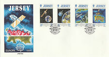 OFFICIAL JERSEY  FDC x 2 - EUROPA 1991 - SPACE & 1992 - DISCOVERY OF AMERICA