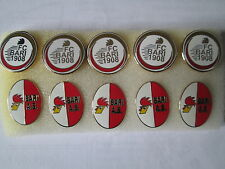 lotto 10 pins lot BARI FC club spilla football calcio soccer pins broches spille