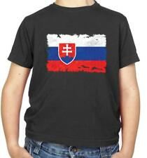 Slovakia Flag Kids T-Shirt - Bratislava - Europe - Republic - Country - Travel