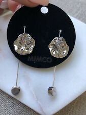 Mimco Ball and Chain Hoop Earrings Silver