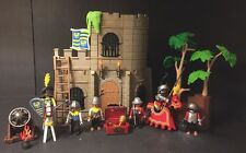 Playmobil 3030 Medieval Castle 6 Knights 2 Horses Trees Cannon And Weapons
