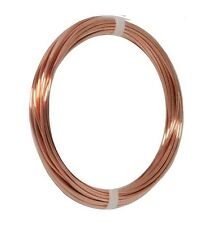 10 AWG Solid Bare Cooper Round  Wire Dead Soft ( 5 Ft Coil )