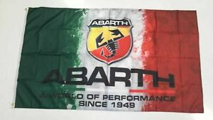 Abarth Style 2 Banner Flag - Car Scorpion Fiat Spider Racing Mechanic Man Cave