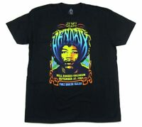 Jimi Hendrix Fort Worth 1969 Black T Shirt New Official Reissue Tour Concert
