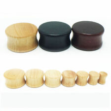 8mm-30mm Solid Wood Timber Double Flare Tunnel Ear Plug Stretcher Earring Guages