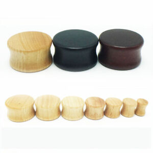 1x 8-30mm Solid Wood Timber Double Flare Tunnel Ear Plug Stretcher Earring Gauge