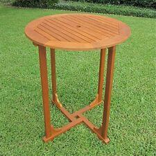 International Caravan Royal Tahiti Outdoor Wood Bar Height  Round Table, Brown