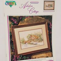 Ashdon Cottage Country Cross Stitch Leaflet Book Color Charts 1990 Tree Flowers