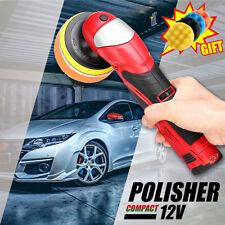 12V Cordless Polisher Li-ion Battery Car Waxing Buffer 5 Speed + Polishing Pad