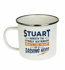 Stuart Camping Enamel Tin Metal Mugs Cups Outdoor Gardening Picnic New