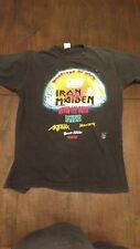 1988 Monsters of Rock Iron Maiden Men's large vintage rock tee
