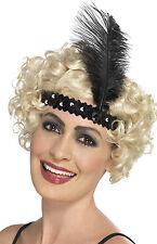 20er Jahre Pailletten Stirnband schwarz NEU - Karneval Fasching Hut Mütze Kopfbe
