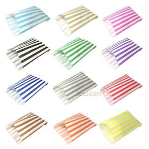 CANDY STRIPE PAPER BAGS SWEET FAVOUR BUFFET GIFT SHOP PARTY Small Medium Large