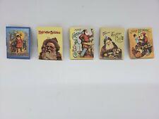 Vintage Miniature Christmas Books Merrimack Antique Images Santa Claus Die Cut