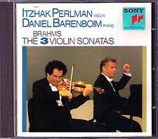 Itzhak PERLMAN & BARENBOIM: BRAHMS Violin Sonata 1 2 3 CD Daniel Violinsonaten