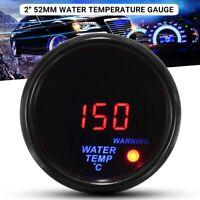 """2'' 52mm 20-150℃ Jauge Température d'eau Manomètre LED Capteur filet  1/8"""" Auto"""
